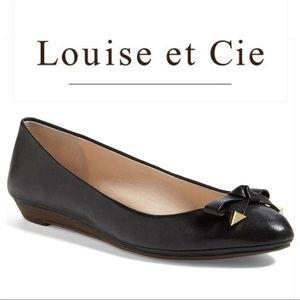 Louise et Cie Azalya black mini wedge flat 9.5W
